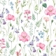Watercolor Floral Pattern - GraphicRiver Item for Sale