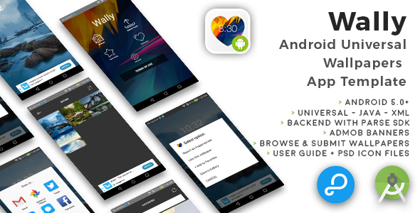 Wally | Android Universal Wallpapers App Template - CodeCanyon Item for Sale