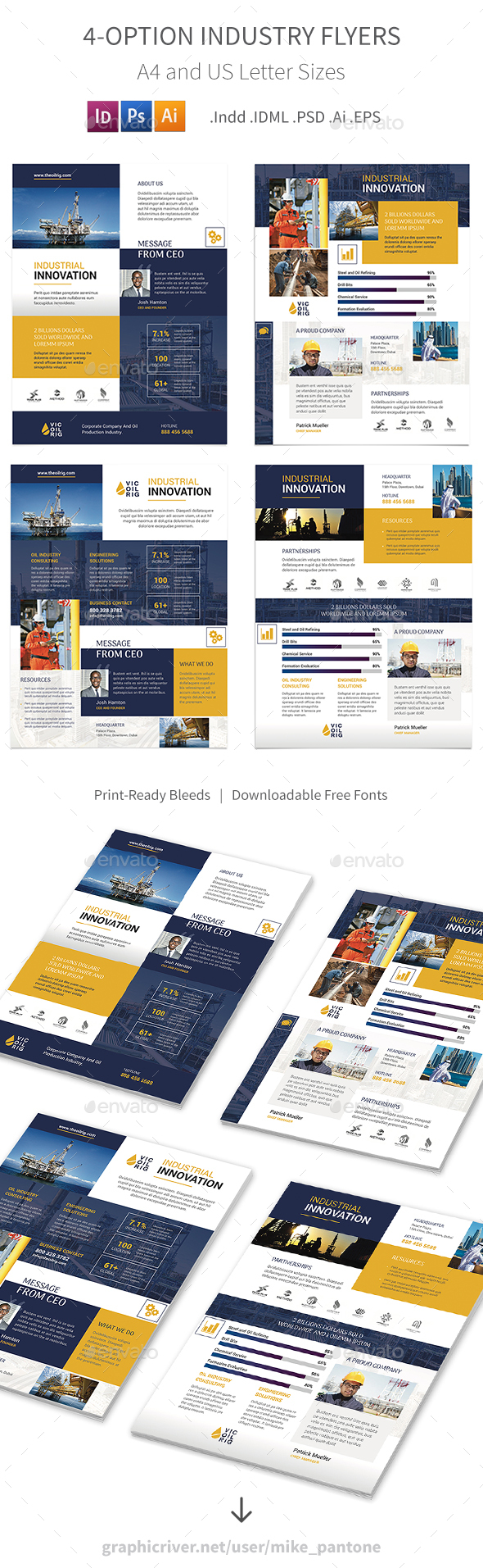 GraphicRiver Industry Flyers 4 Options 21101610