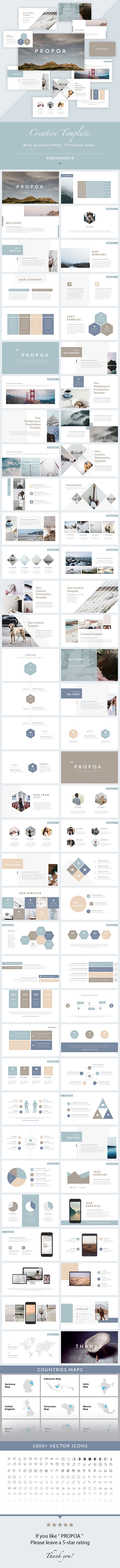 GraphicRiver Propoa PowerPoint Presentation Template 21101622
