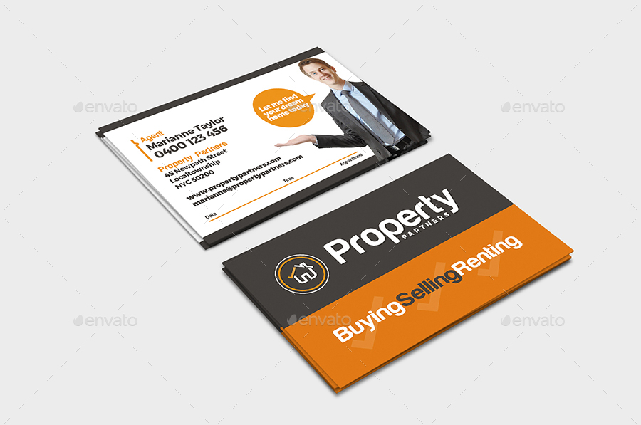 Realtor Business Card Template by BrandPacks | GraphicRiver