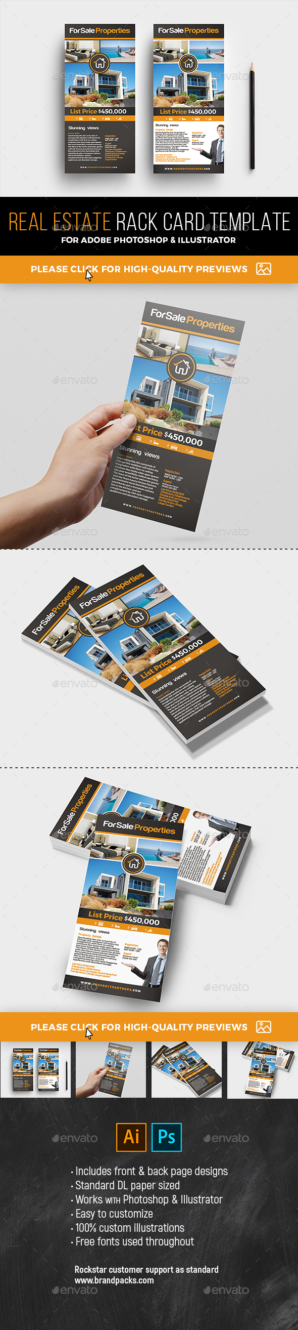 GraphicRiver Real Estate Rack Card Template 21101689