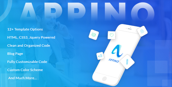 APPINO! - A Perfect Mobile App Landing Page - Technology Site Templates