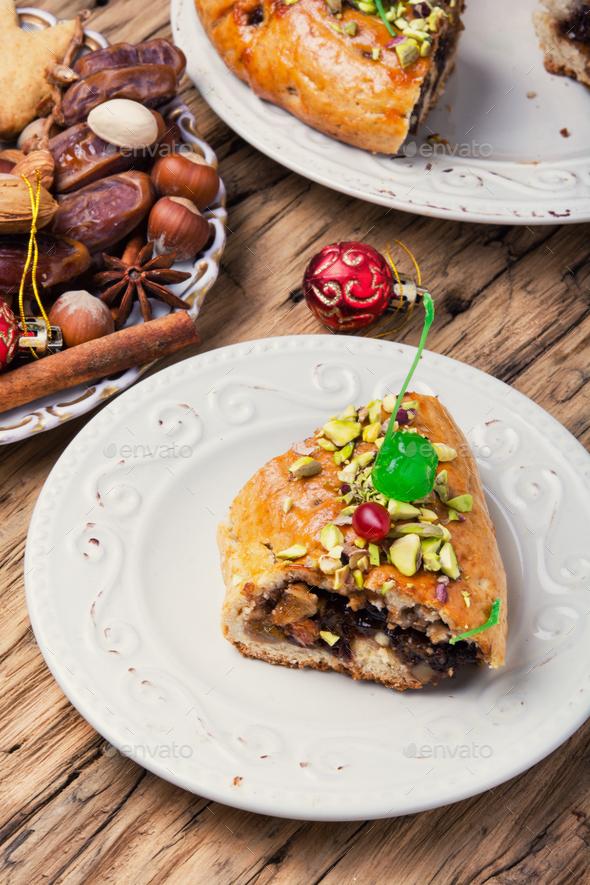 oriental fruit cake - Stock Photo - Images