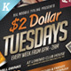 2 Dollar Tuesdays Flyer Templates - GraphicRiver Item for Sale