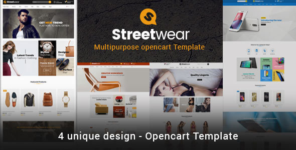Streetwear - Responsive Multipurpose Opencart Theme Free Download | Nulled