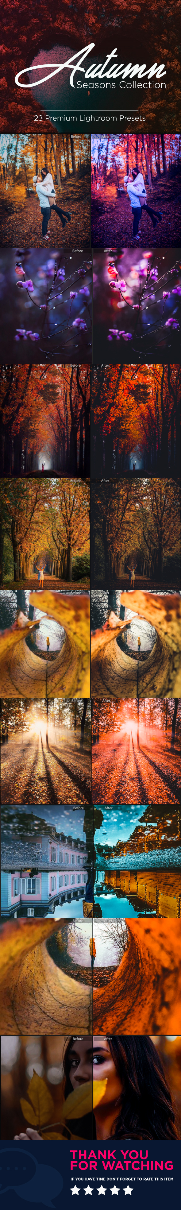 23 Premium Autumn Season Lightroom Presets - Portrait Lightroom Presets