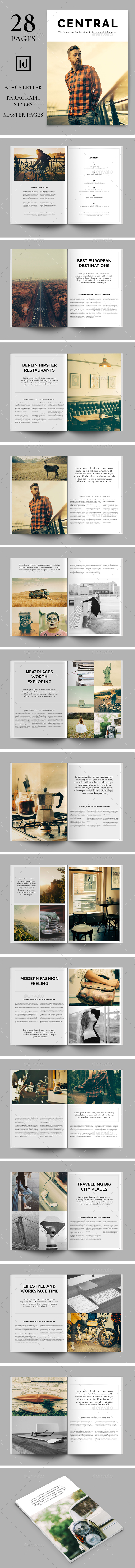 Central | The Magazine for Fashion, Lifestyle and Adventure - Magazines Print Templates