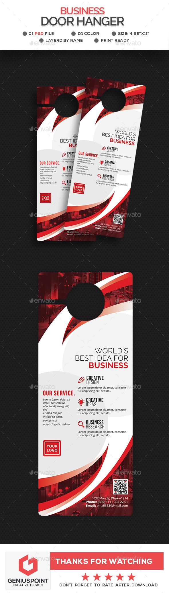GraphicRiver Corporate Door Hanger Template 21102214