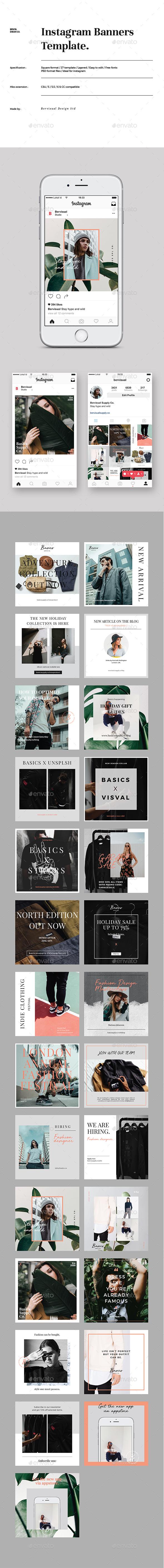 Fashion Instagram Banner Template - Social Media Web Elements