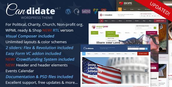 Image of Candidate - Political/Nonprofit/Church WordPress Theme
