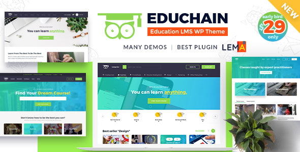 EduChain - Education LMS WordPress Theme