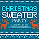 Multicolor Christmas Sweater Party - GraphicRiver Item for Sale
