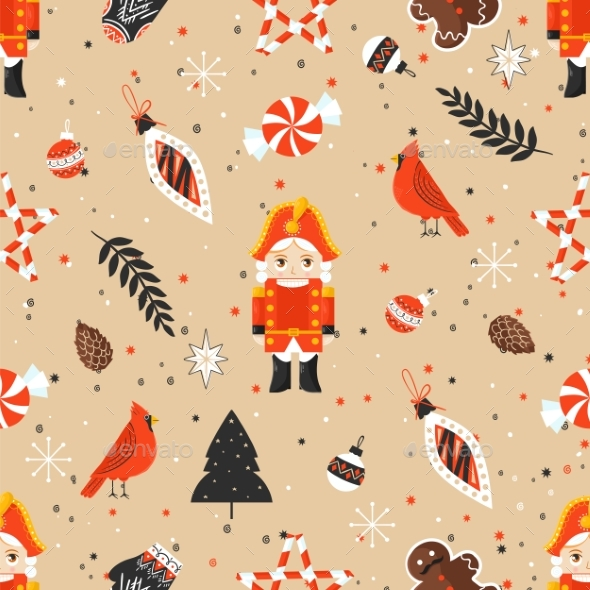GraphicRiver Stylish Merry Christmas Seamless Pattern with 21102593