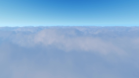 VideoHive Flight Over White Clouds and Blue Clear Sky 21102654