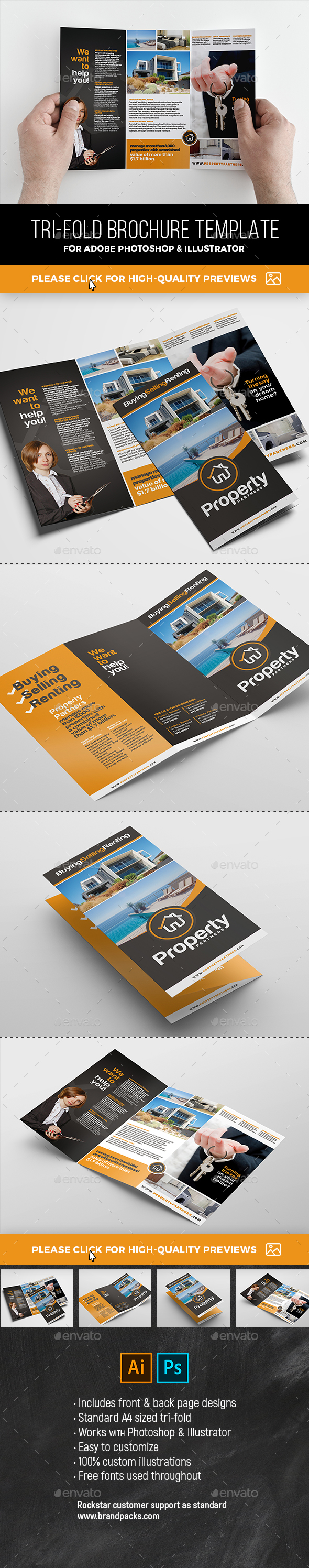 Real Estate Tri-Fold - Corporate Brochures