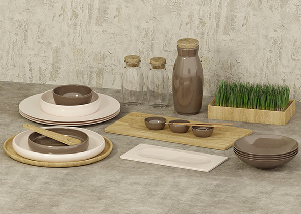 Table set - 3DOcean Item for Sale