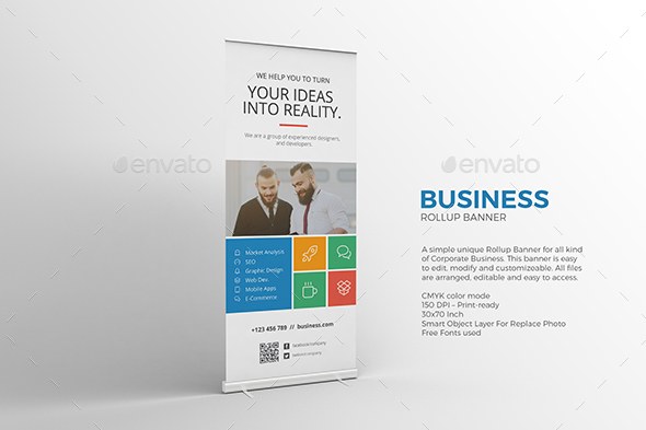 metro roll up banner signage print templates