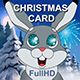 Christmas Animated Card With Hares And Santa Claus - VideoHive Item for Sale
