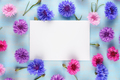 Greeting card on floral background with cornflowers - PhotoDune Item for Sale