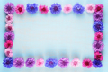 Flower frame of cornflowers on blue background - PhotoDune Item for Sale
