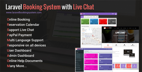Laravel Booking System with Live Chat - Appointment Booking Calendar - CodeCanyon Item for Sale