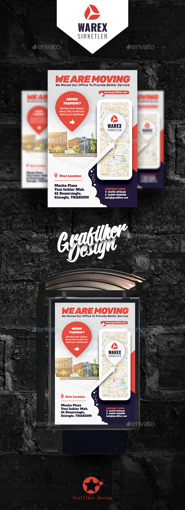 Moving Office Poster Templates - Signage Print Templates