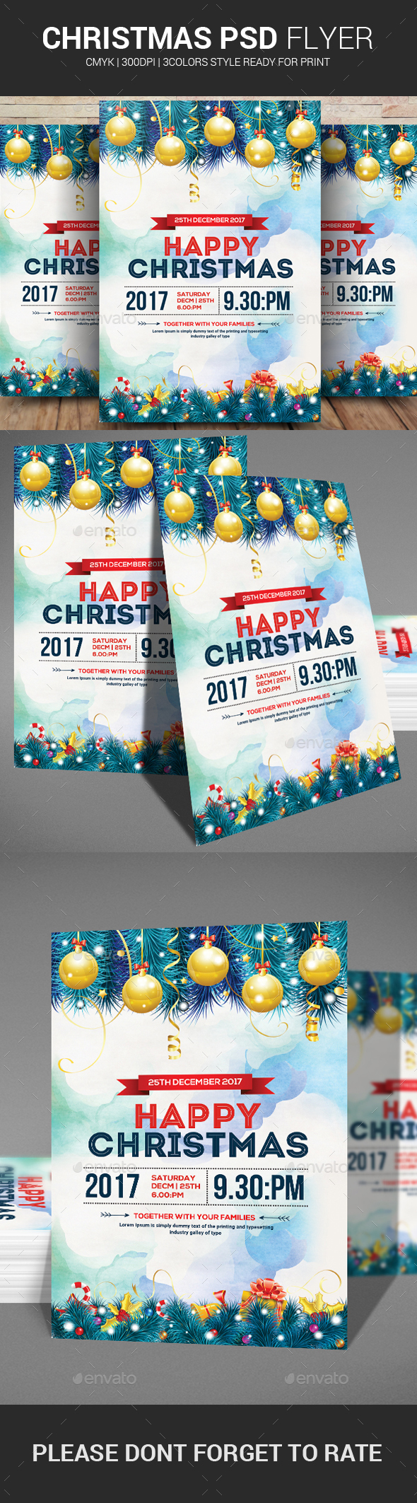 Happy Christmas Flyer Template - Events Flyers