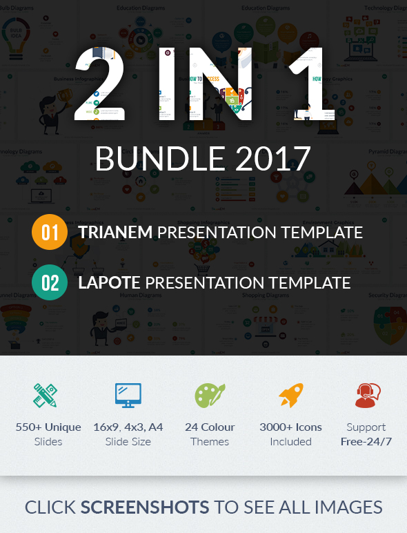 2 In 1 Keynote Bundle - Business Keynote Templates