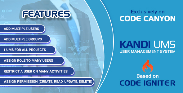 CodeCanyon Kandi UMS- Powerfull User Management System 21005717