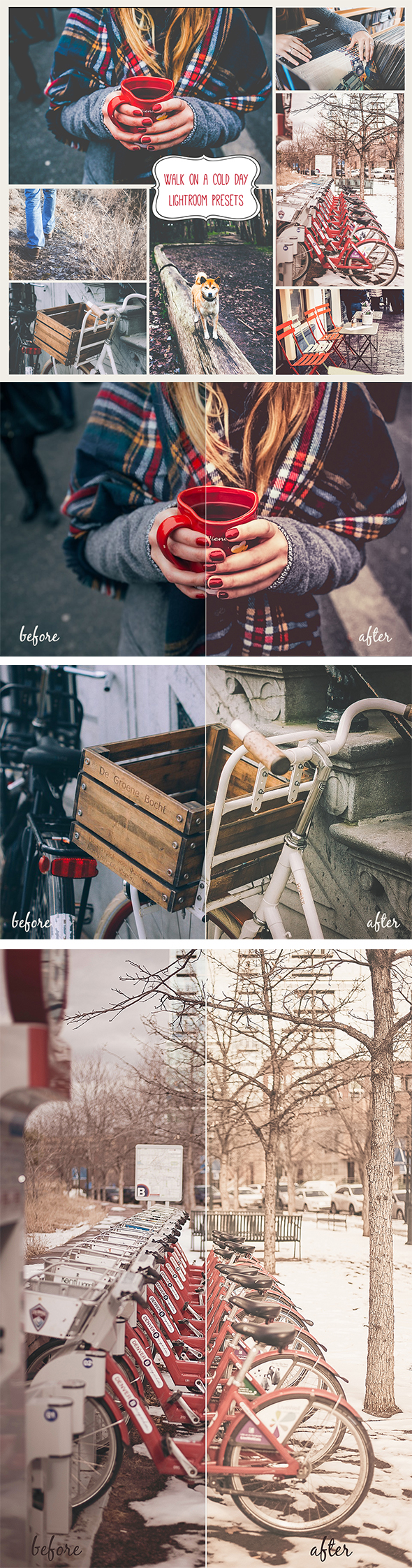 GraphicRiver 20 Walk on a cold day Lightroom Presets 21103148