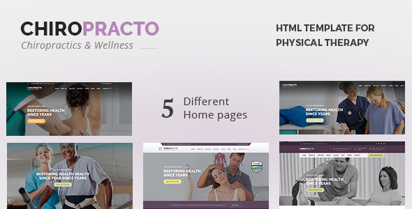 ThemeForest Chiropracto Physical Therapy HTML Template 21103160