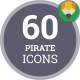Pirate Buccaneer Filibuster Rover Corsair Icon Set - Flat Animated Icons