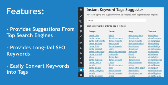 Instant Keyword Tags Suggester WordPress Plugin - CodeCanyon Item for Sale