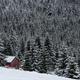 Snow covered mountain wooden hut - PhotoDune Item for Sale