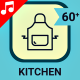 Kitchen Table Setting Cooking Animation - Line Icons and Elements