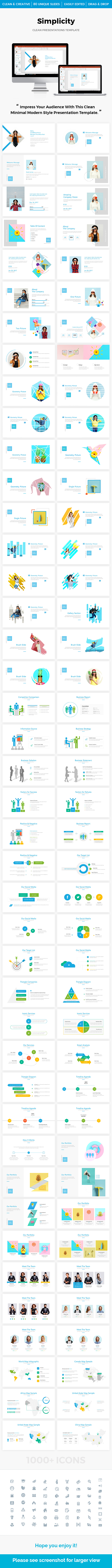 GraphicRiver Simplicity Multipurpose PowerPoint Template 2018 21103365