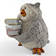 academic owl - 3DOcean Item for Sale