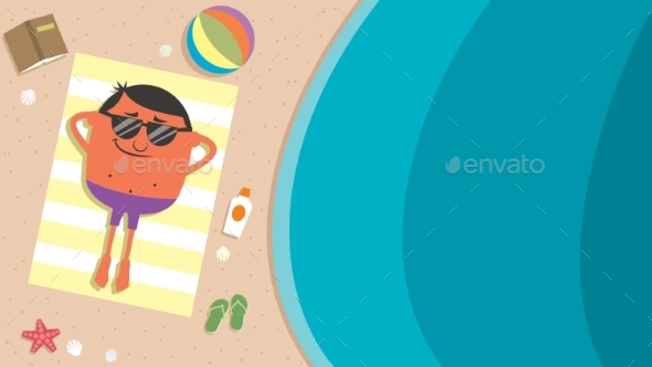 Summer Beach Man - Sports/Activity Conceptual