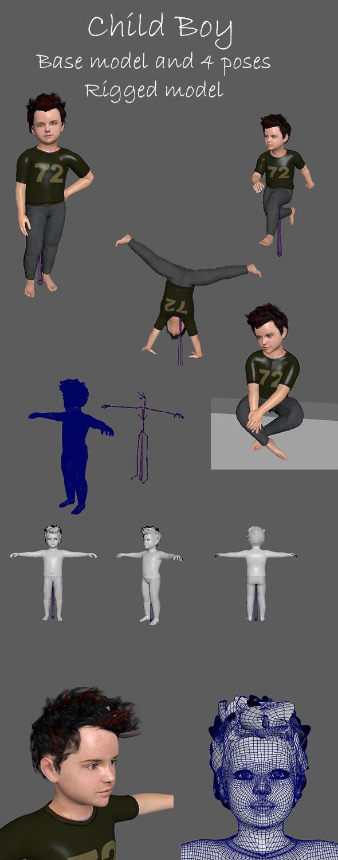 Boy Child - 3DOcean Item for Sale
