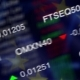 Stock Market Business Background with EU Flag - VideoHive Item for Sale