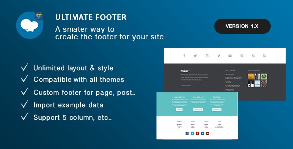 Ultimate Footer Builder - Addon WPBakery Page Builder (formerly Visual Composer) - CodeCanyon Item for Sale