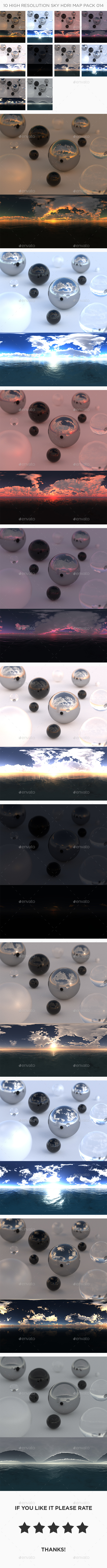 3DOcean 10 High Resolution Sky HDRi Maps Pack 014 21104057