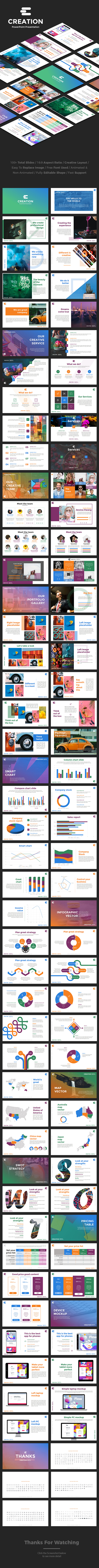 Creation Powerpoint Presentation - Business PowerPoint Templates