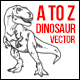 A to Z Dinosaur Illustration - GraphicRiver Item for Sale