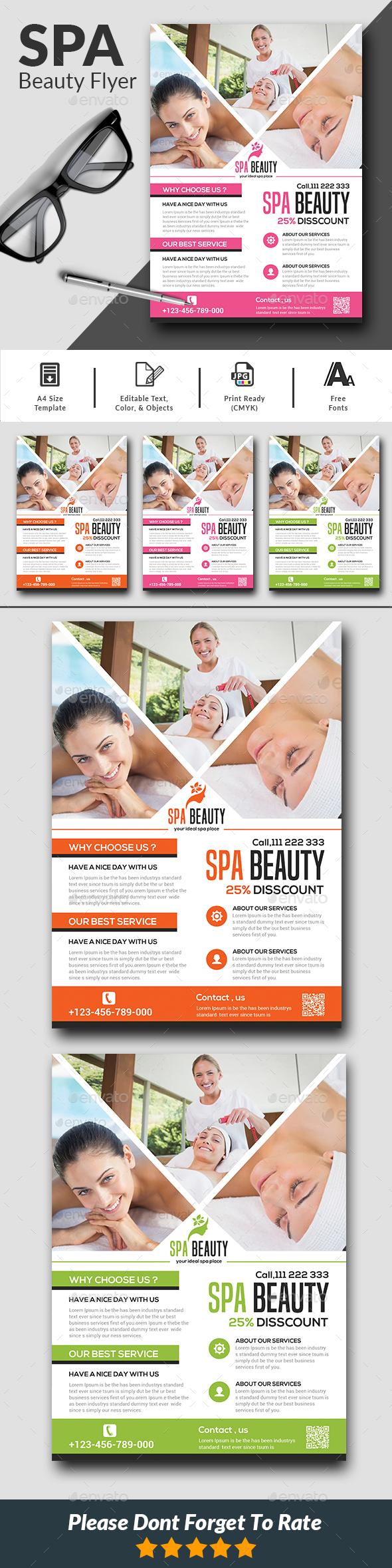GraphicRiver Beauty Salon Spa Flyer 21104128