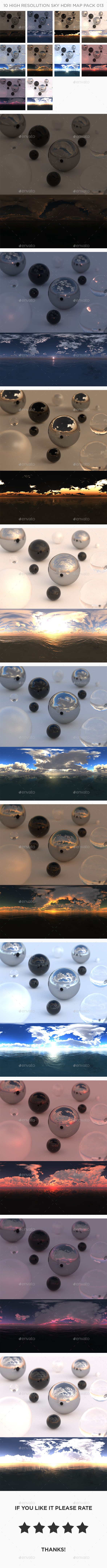 3DOcean 10 High Resolution Sky HDRi Maps Pack 013 21104166