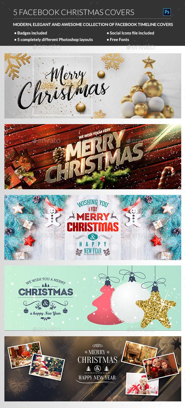 GraphicRiver Facebook Christmas Cover 21104194