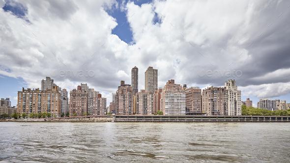 Manhattan Midtown waterfront, New York, USA - Stock Photo - Images