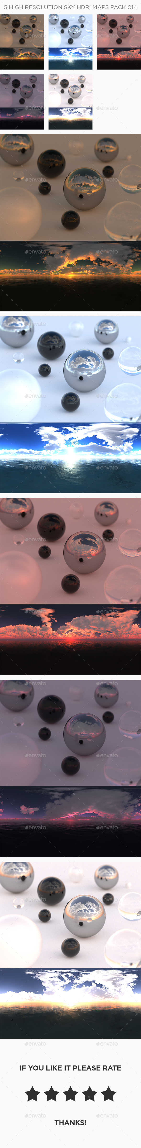 3DOcean 5 High Resolution Sky HDRi Maps Pack 014 21104296